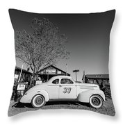 Vintage Race Car Gold King Mine Ghost Town Throw Pillow