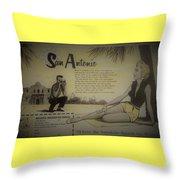 Vintage San Antonio Advertisement Throw Pillow