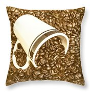 Vintage Scoops Throw Pillow