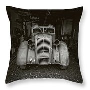 Vintage Service Station Jerome Arizona Throw Pillow
