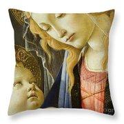 Virgin And Child Renaissance Catholic Art Throw Pillow
