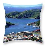Virgin Island View Throw Pillow
