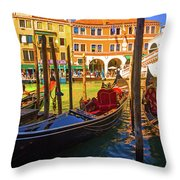 Visions Of Venice Throw Pillow