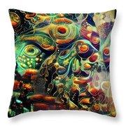 Vivid Masquerade Throw Pillow