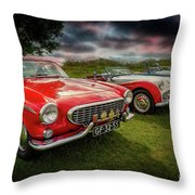 Volvo P1800 Classic Car Throw Pillow