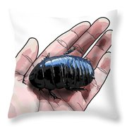 W Is For Wood Cockroach Throw Pillow
