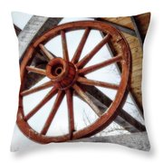 Wagon Wheel Throw Pillow