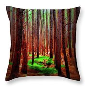 Waihou Forest  - Maui Throw Pillow
