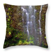 Waimoku Falls Throw Pillow