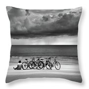 Waiting At The Edge Of The World Throw Pillow
