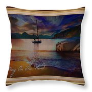 Waiting On The Wind Throw Pillow