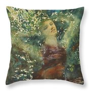 Waking Forest Throw Pillow