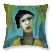 Walking In A Forest Throw Pillow