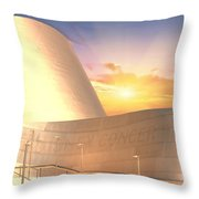 Wall Disney Concert Hall At Sunset Throw Pillow