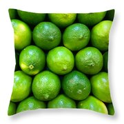 Wall Of Limes Throw Pillow