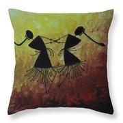 Warli Painting Throw Pillow
