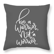 Warrior Throw Pillow by Nancy Ingersoll