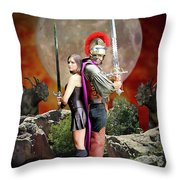 Warriors Back To Back  Throw Pillow by Jon Volden