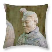 Warriors In Pit 1, Xi'an, China Throw Pillow