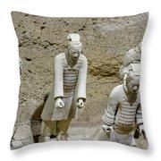 Warriors Of Pit 2, Xian, China Throw Pillow
