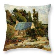 Washerwomen At Pont Aven 1886 Throw Pillow