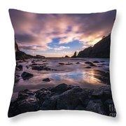 Washington Coast Skies Blue Clarity Throw Pillow