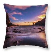 Washington Coast Sunset Sands Throw Pillow