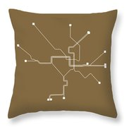 Washington, D.c. Subway Map 2 Throw Pillow