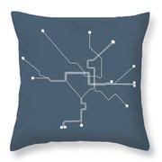 Washington, D.c Subway Map Throw Pillow