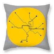 Dc Subway Map Pillow.Washington D C Yellow Subway Map By Naxart Studio