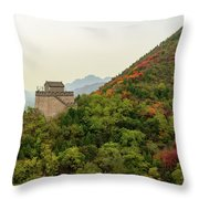 Watch Tower, Great Wall Of China Throw Pillow