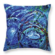 Water Circles Throw Pillow