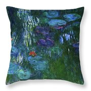 Water Lilies 1918 - Digital Remastered Edition Throw Pillow