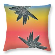 Water Lily Duo Throw Pillow