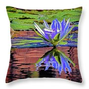 Water Lily10 Throw Pillow