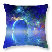 Water Planet One Throw Pillow