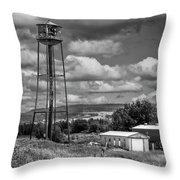 Water Tower In Hillsborough New Brunswick Throw Pillow