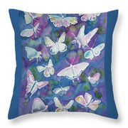 Watercolor - Butterfly Design Throw Pillow