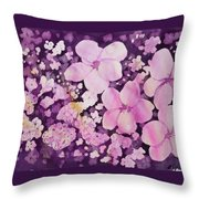 Watercolor - Cherry Blossom Design Throw Pillow