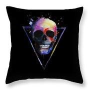 Watercolor Skull Design For Women Throw Pillow