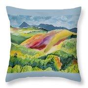 Watercolor - Wilson Mesa Landscape Impression Throw Pillow
