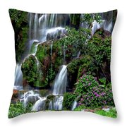 Waterfalls At Seven Star Park Throw Pillow