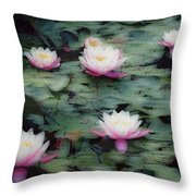 Waterlily Impressions Throw Pillow