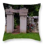 Waterloo Civil War Memorial Throw Pillow