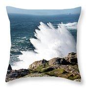 Wave Like Quartz Throw Pillow