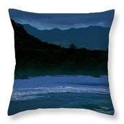Waves In The Pacific Ocean, Waimea Bay Throw Pillow