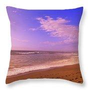 Waves On The Beach, North Beach, Point Throw Pillow