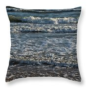 Waves Quietly Approaching Throw Pillow