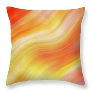 Wavy Colorful Abstract #5 - Yellow Orange Throw Pillow by Patti Deters