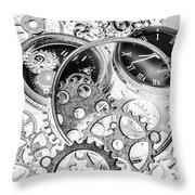 Wayback Watch Workshop Throw Pillow